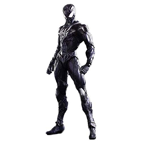 MKKSB Marvel Avengers 3: Action Figure Black Spider Man, PVC Spider Man Toys - 10 Inches / Height 26.5cm (Joints Can Be Active)