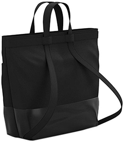 Preisvergleich Produktbild Quinny Wickeltasche, Baby-tasche, Windel-tasche (modische Wickel-tasche mit viel Platz und Zubehör inkl. Wickelauflage, auch als Wickel-Rucksack tragbar) schwarz