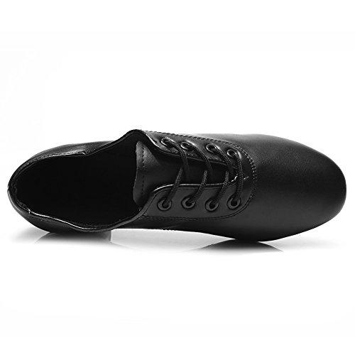 HROYL Herren Tanzschuhe/Latin Dance Schuhe Satin Ballsaal Modell-DW-701 Schwarz