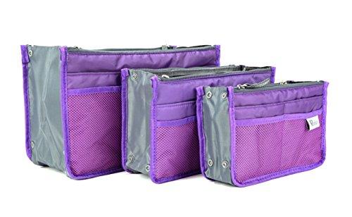 Periea - Organiseur de sac à main, 12 Compartiments - Chelsy (Violet, Moyen: H17.5 x L28 x P2-16cm)