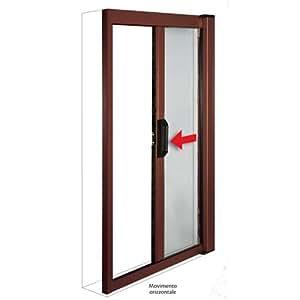 Zanzariera in alluminio a molla per porte e finestre 160x250 marrone casa e cucina - Amazon zanzariere per finestre ...