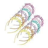 NUOBESTY 12 Stücke Geburtstag Haarreif Happy Birthday Haarschmuck Tiara Stirnband Kunststoff Haarband für Kinder Mädchen und Damen
