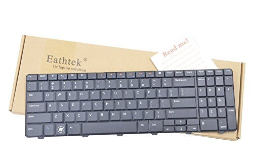 Eathtek New Laptop Keyboard for Dell Inspiron 15R 5010 M5010 N5010 09GT99 NSK-DRASW series Black US Layout  available at amazon for Rs.2758