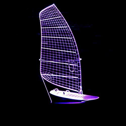 Nachtlicht 7 Farbwechsel 3D LED Weihnachtsgeschenk Marine Schiffsmodell Schreibtischlampe Segelboot Beleuchtungskörper Wohnkultur Schlaf Lampe Remote touch schalter -