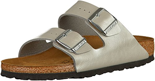 BIRKENSTOCK Arizona Damen Pantoletten Graceful Silver, EU 39