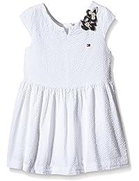 Tommy Hilfiger Amira Mini Dress S/S-vestido Bebé-Niños    Blanco Blanco (Classic White) 4 años