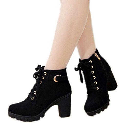 hengsong-femme-bottes-talons-automne-et-hiver-thick-avec-martin-bottes-38-noir