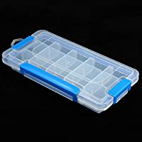 Andoer Transparent Plastic Storage Box Multiple Compartments Slot Hardware Box Organizer Jewelry Tools Electronic Components Container Fishing Tackle Box