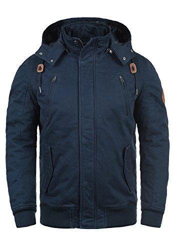 BLEND Ken Herren Winterjacke Jacke mit Stehkragen und abnehmbarer Kapuze aus 100% Baumwolle, Größe:3XL, Farbe:Navy (70230) (Abnehmbare Kapuze)