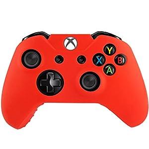 SMARDY Silikon Schutzhülle kompatibel mit Xbox One Controller Gummi Bumper rot, flexibel
