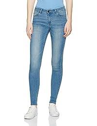 Vila Vicommit Rw Slim Hy2545 Mb-Noos, Jeans Femme