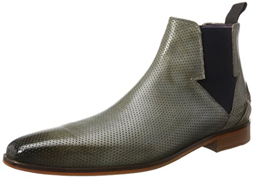 Melvin & Hamilton Lance 19, Bottes courtes Chelsea homme Mehrfarbig (Crust Perfo Morning Grey Elastic Navy LS NAT.)