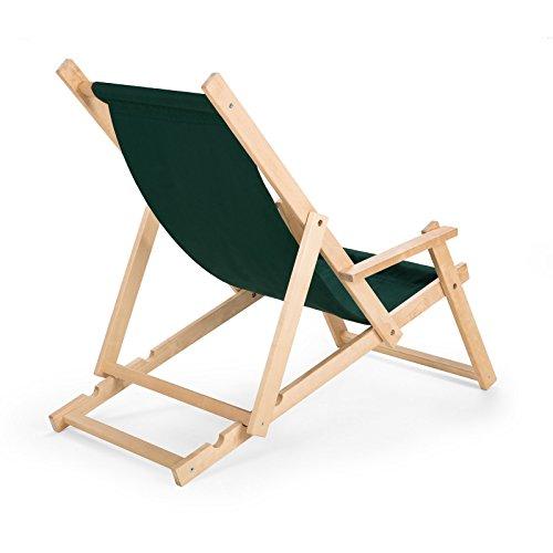 Unbekannt Gartenliege Strandliege Liegestuhl aus Holz Sonnenliege N/6 mit Armauflagen