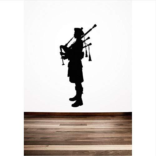 Mrhxly Dudelsackpfeifer SchottischeWandaufkleber Schottland Englisch Stil Home Room Cooles Dekor Vinyl Kunst Wandbilder Aufkleber42 * 94 Cm -