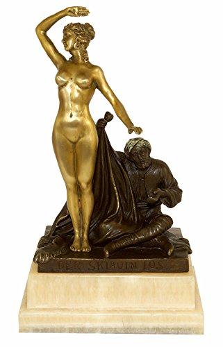 Kunst & Ambiente - Jugendstil Frauen Akt - Der Sklavin Los (1910) - signiert Karl Theodor Eichler - Aktskulptur - Wiener Bronze Figur - Bildhauer