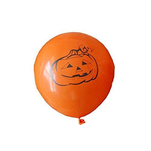 yunnuopromi 10030,5cm Kürbis Spinnennetz Luftballons für Party Halloween Supplies Dekoration Orange