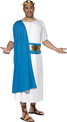 scher Senator Kostüm, Robe, Gürtel und Lorbeerkranz, Größe: M, 30644 (Römische Kostüme Ideen)