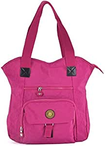 Gossip Girl - Large Nylon / Fabric Shopper Carry All Zipped Tote Bag (Daily - Pink)