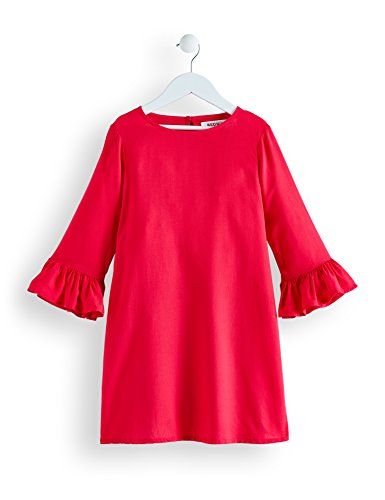 RED WAGON Mädchen Kleid mit Rüschen, Rosa (Virtual Pink), 128 (Herstellergröße: 8 Jahre) (Kleider Rüschen Mädchen)