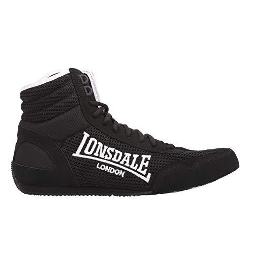 Lonsdale Hombre Contender-boxschuhe Cajas Botas Sport Extra Ligero Guantes Negro/Blanco 8.5 42.5...