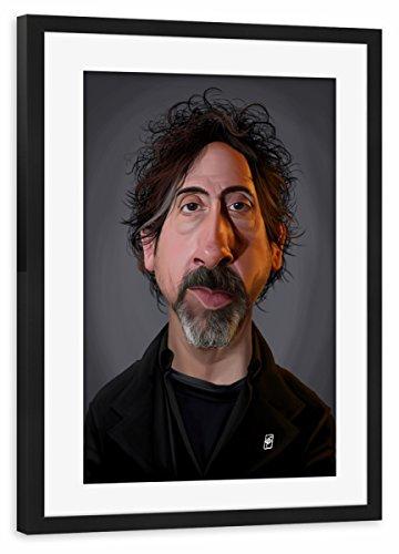 artboxONE Poster mit Rahmen Schwarz 60x40 cm Tim Burton von Rob Snow - gerahmtes Poster (Direktoren Schwarzer Rahmen)