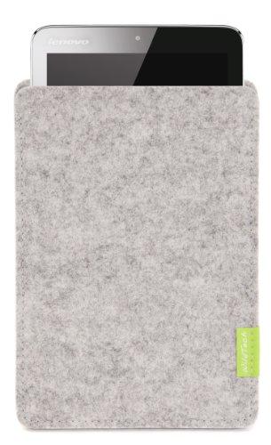 WildTech Sleeve für Lenovo A7-50 Tablet (A3500) Hülle Tasche - 17 Farben (Made in Germany) - Hellgrau