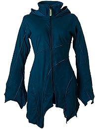 Vishes – Alternative Bekleidung – warme Elfen Zipfeljacke / Kurzmantel mit Zipfelkapuze