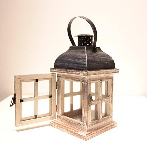 ZXCB Improvement Householder Angenehme Luft Holz Flammenlose Bronze Kerzenständer,A-21*10CM