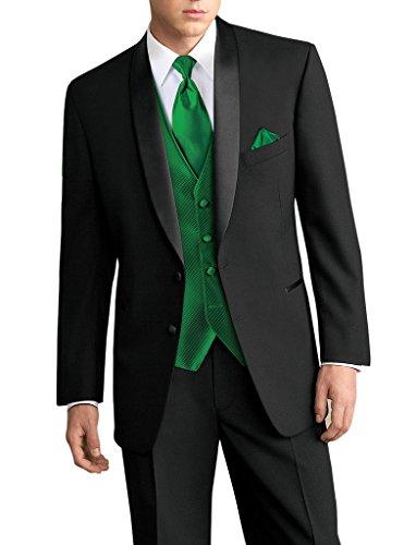 Suit Me Hommes 3 Piece Suit 2 boutons ¨¦charpe Lapel Tuxedo Suit Vestes Blazer Pantalons Noir 1