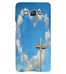 ColourCraft Jesus Cross Design Back Case Cover for SAMSUNG GALAXY A8