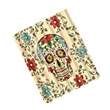 Alcoa Prime 180 x 180cm Flower Skull Waterproof Fabric Bathroom Shower Curtain Decor