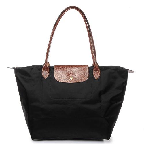 Longchamp Damen Le Pliage Large Tote Bag, Schwarz (Noir), 19x30x31 cm