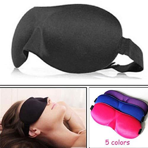 LiLi 2Pcs 3D Sleep Mask Natural Sleeping Eye Mask Eyeshade Cover Shade Eye Patch Women Men Soft Portable Blindfold Travel Eyepatch,Purple