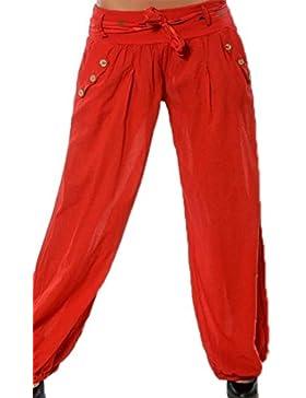 Hellomiko Pantalones Harem de mujer Pantalones de verano de yoga Aladdin Beach con pantalones Baggy Puff holgados