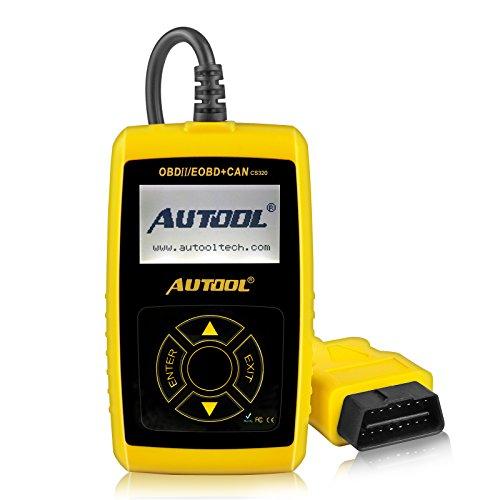 Autool CS320 Scanner de Code de véhicule de Voiture d'OBD2,des Codes de Lecture et d'effacement d'Erreur pour 1996 ou Plus Tard Le véhicule américain, européen et Asiatique de protocole OBD2