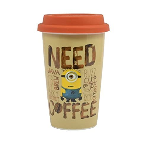 Minions I Need Coffee Travel Mug - Despicable