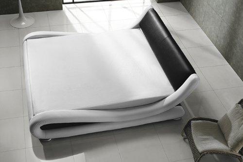 KAWOLA Polsterbett Moonlight schwarz - weiß 180 x 200 cm Luxusbett