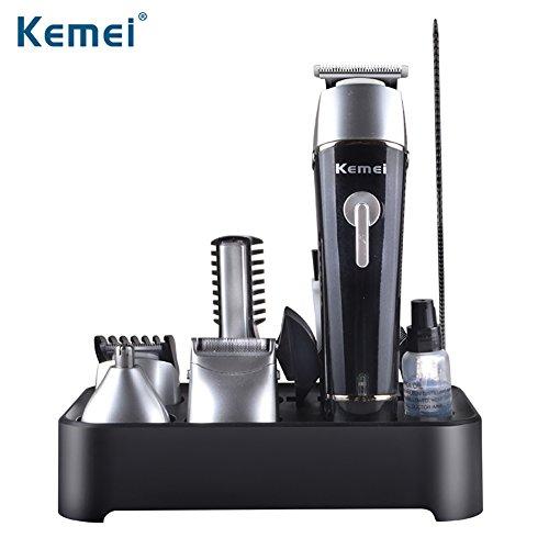 5 in 1 Elektrische Haarschneidemaschinen, Voll Waschbar Wiederaufladbare Akku-Styling-Tools Rasur-Maschine, Elektrorasierer Bartschneider, Haar Rasierer Nase Blind Winkel Trimmer Cutter, Blank
