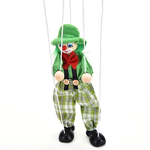 Kuhu Creations® Supreme Pull String Marionette Hand Puppets Clown Style Wood & Cloth With Shadow Rope. (Multicolor, 1 Units)
