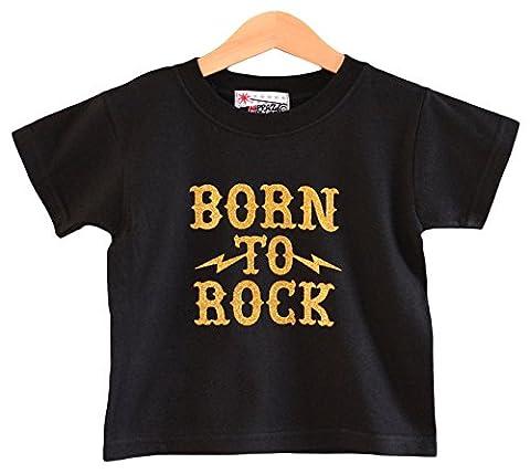 Born To Rock T-shirt pour enfant 1-2 ans Rock T-shirt pour baby