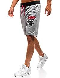 BOLF Pantaloncini Corti – con Cerniere - Stile Sportivo – da Uomo Mix 7G7