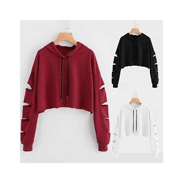 01be1f3162106 Sweatshirt Femme Pull Amlaiworld Mode DécontractéeFemmes Sweat à Manches  Longues Pull Chemisier Solide Sweat. Vêtements   Amlaiworld sweatshirt