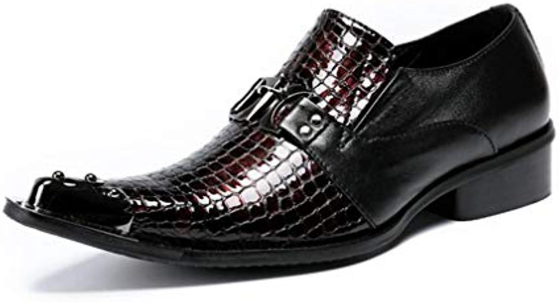 Zapatos de Hombre/Cuero Otoño/Confort de Invierno/Zapatos Formales/Zapatos de Negocios/Oxfords / Punta Estrecha...