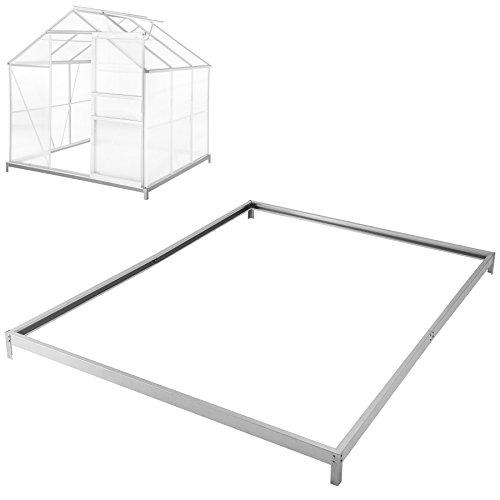 Galleria fotografica TecTake Base per serra de giardino acciaio zincato 190x190x12 cm fondamenta terra esterno