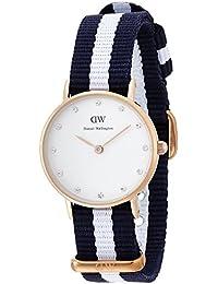 Daniel Wellington 0908DW - Reloj con correa de acero para mujer, color blanco / gris