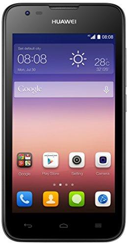 Huawei Ascend Y550 Smartphone (11,4 cm (4,5 Zoll) IPS-Display, 5 Megapixel-Kamera, 4GB Interner Speicher, Android 4.4) schwarz