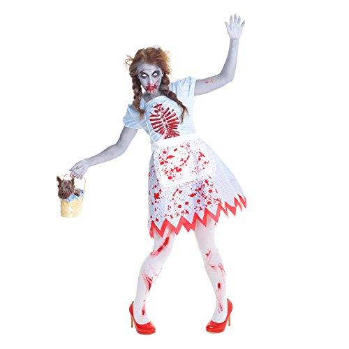 Kostüme Dorothy Schürze Kleid (Zauberer von Oz Blutig Dorothy Zombie)