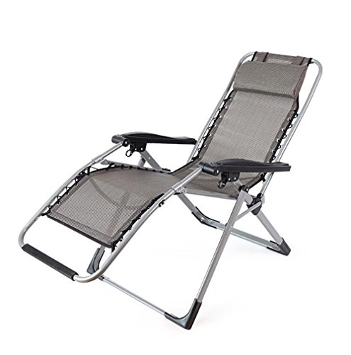 JFJL Heavy Duty Zero Gravity Chair Lounge Recliner con Patas Cuadradas Y...