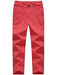 cf383efbf5ed KID1234 Boys Trousers Chino Cotton Trousers Lightweight Elasticated Waist  Pants Smart Formal Trousers for Boys 4