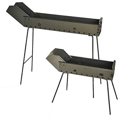 Preisvergleich Produktbild Grill Spießchen,  Garform aus Eisen 80 cm mit klappbaren Füßen und Schnabel Hergestellt in Abruzzen
